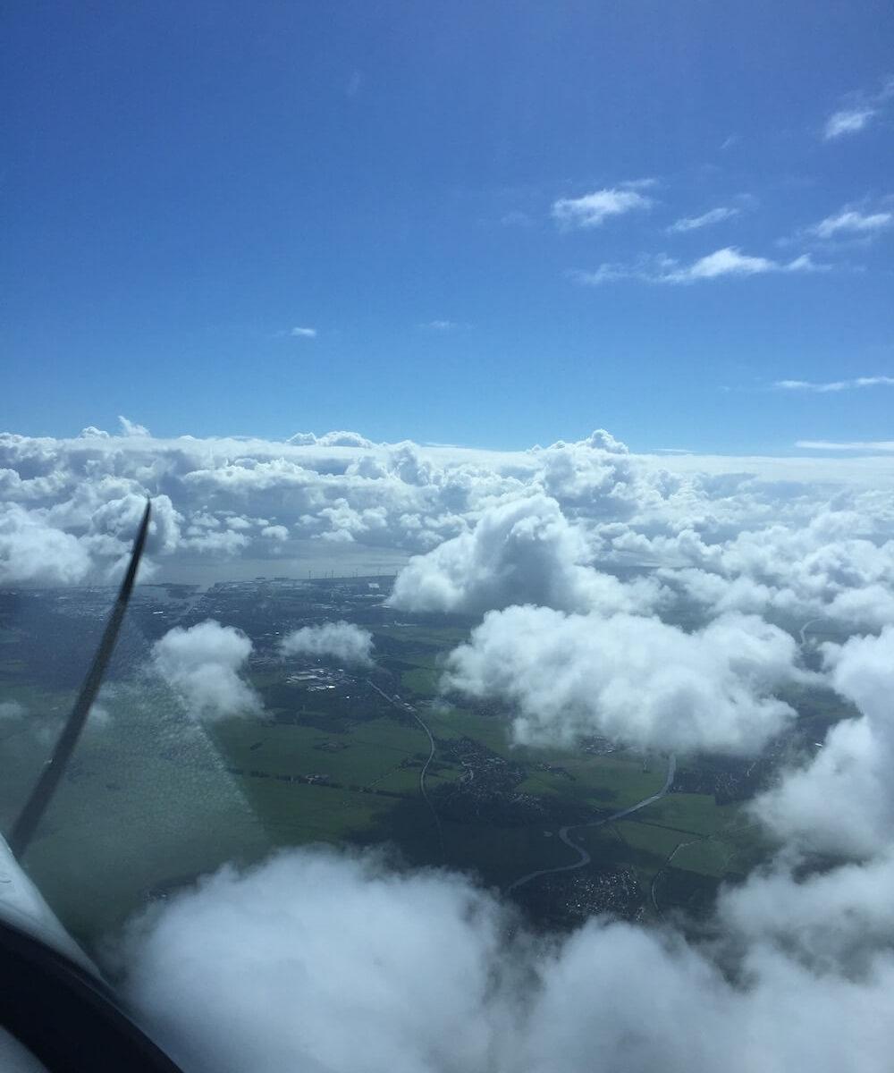 UL-Flug von Leer nach Holland