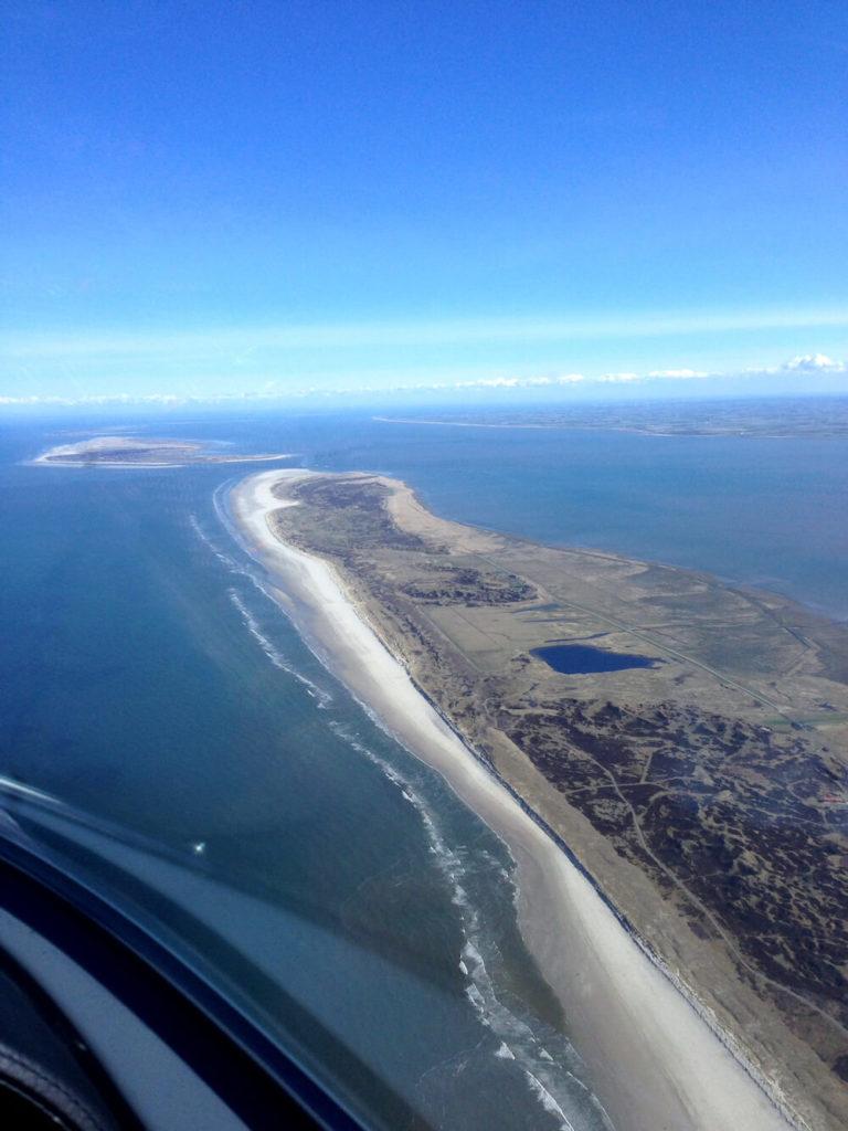 Ausblick über die Nordsee und den ostfrisieschen Inseln (Juist)